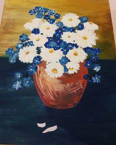 Первая ваза первые ромашки  #acrilicpainting #myhobby #goodnight #sleepless #insomnia Good Night, Painting, Art, Nighty Night, Art Background, Have A Good Night, Painting Art, Kunst, Gcse Art