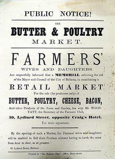 Ballarat RESOURCES - 1873 PETITION FARMERS W&D