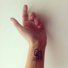 Custom Portrait Tattoo @lilimandrill www.lilimandrill.fr @etsy #EtsyGifts #bachelorette #etsywedding #wedding #bride #couple #giftforcouple #DifferenceMakesUs #tattoo #temporarytattoo #favor #weddingfavors #party #personalizedgift #uniquegift
