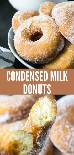 Aug 2019 - Adapted from our Beignets recipe, these Condensed Milk Donuts are simply delicious! Here at home we are totally in love with beignets, but one of these days we were craving donuts but we didn'… Köstliche Desserts, Delicious Desserts, Dessert Recipes, Yummy Food, Plated Desserts, Drink Recipes, Food Deserts, Delicious Donuts, Filipino Desserts