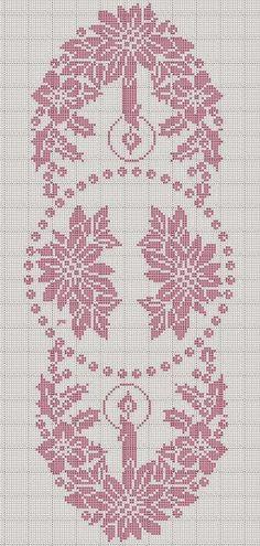 Victoria - Handmade Creations : Σχέδιο σεμέν από δαντέλα για το Χριστουγεννιάτικο τραπέζι