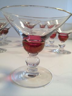 Tiffin-Franciscan Dubonnet Champagne/ Tall Sherbet Glass Set of Twelve