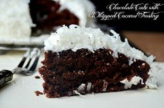 Chocolate-Cake-With-Whipped-Coconut-Frosting 4 willcookforsmiles.com