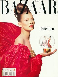 Kate Moss by Patrick Demarchelier for Harper's Bazaar December 1992