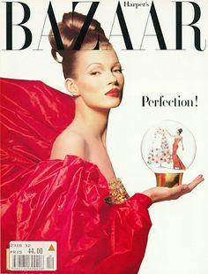 Kate Moss by Patrick Demarchelier for Harper's Bazaar December 1992