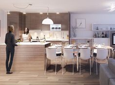 New kitchen island table combo decor ideas Kitchen Island And Table Combo, Kitchen Layouts With Island, White Kitchen Island, Kitchen Island With Table Attached, Kitchen Islands, Simple Dining Table, Dining Table Lighting, Dining Room Bench, Dining Tables