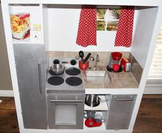 DIY Pretend Kitchen - every little girl deserves one My friend made this for her lil girl and it is PERFECT!!! I love it!!!