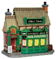"LEMAX CHRISTMAS VILLAGE ""O'NEIL'S IRISH TAVERN"" PRODUCT No. 45724 LIGHTS UP! #Lemax"