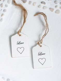Pretty LOVE gift tags on natural string. Sourced from a lovely small Swedish family run company, these handmade white wooden LOVE tags are finished with natural string. As they are handmade, each one is slightly different. Card Tags, Gift Tags, Cards, Valentine Day Love, Valentines, Craft Packaging, Love Tag, Hearts And Roses, Paper Tags