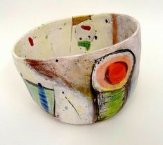 Big bowl, Linda Styles click the image or link for more info. Ceramic Clay, Ceramic Plates, Ceramic Pottery, Pottery Art, Pottery Painting, Ceramic Painting, Pottery Designs, Vintage Ceramic, Clay Art