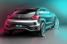 Suzuki IK.2 (Baleno showcar) Concept Geneva Motor Show 2015 - official sketch