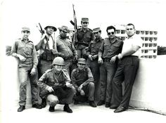 "ourforgottenwars: "" Cuban soldiers and Soviet officers pose together on a rooftop somewhere in the Angolan capital, Luanda. Soviet Army, Soviet Union, Army Pics, Super Images, War Photography, Anglo Saxon, Interesting History, Cold War, Military History"