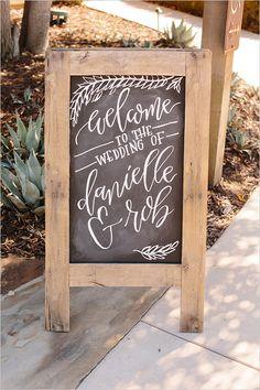 chalkboard wedding welcome sign @weddingchicks