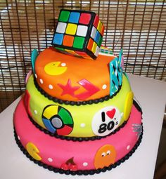 I love the 80's cake (side view)