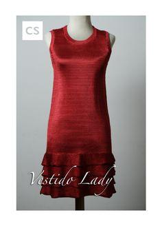 Vestido Lady,tejido en seda,Caro Sosa