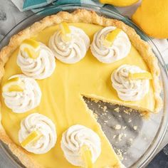 This Old Fashioned Creamy Lemon Pie is the perfect lemon lovers dessert. Fresh, light taste meets rich, creamy texture in the pie of pies! Brownie Recipes, Cake Recipes, Baked Eggplant, Eggplant Parmesan, Lemon Cream Pies, Creamy Cauliflower Soup, Food Hampers, Homemade Dinner Rolls, Best Brownies