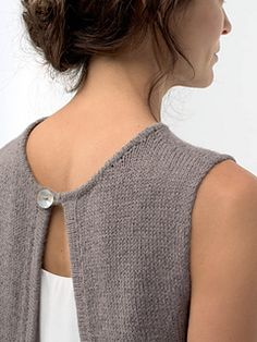 """Aurora,"" by Shellie Anderson, knit with Shibui Linen and Cima held together throughout."