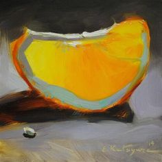 Transparent Fruit - Original Fine Art for Sale - © by Elena Katsyura - subtle still life Fruit Painting, Lemon Painting, Orange Painting, Still Life Fruit, Painting Still Life, Fruit Art, Art Graphique, Painting Inspiration, Painting & Drawing