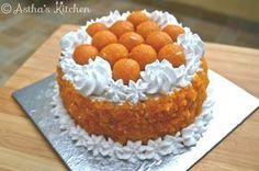 Eggless fusion laddoo cake