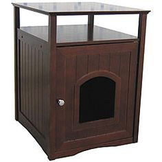 @Overstock - This Kitty Comfort Room can also be used as a coffee table or night stand while providing a discrete resting or sleeping area for both dogs and cats. With this cat furniture, you never have to worry about mess from litter boxes.http://www.overstock.com/Pet-Supplies/Kitty-Walnut-Finish-Comfort-Room/5300322/product.html?CID=214117 $104.99