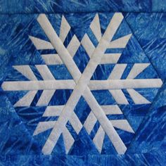 Snowflake 4 Paper pieced block pattern available at… Paper Pieced Quilt Patterns, Barn Quilt Patterns, Modern Quilt Patterns, Pattern Blocks, Free Quilt Block Patterns, Quilting Patterns, Quilting Ideas, Sewing Patterns, Snowflake Quilt