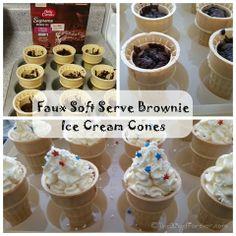 Faux Soft Serve Brownie Ice Cream Cones #PriceChopperBBQ #shop #cbias