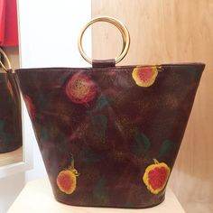 Addie Ring Bucket Tote | Deadstock Hand painted in Italy