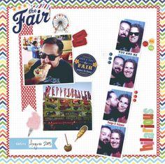 Fair scrapbook layout. New fair stickers at Hobby Lobby.