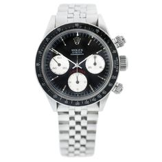 Vintage Rolex Daytona 6263 Black Dial Cosmograph Jubilee Watch