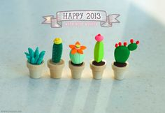 art sculpture crafts cactus polymer clay succulent sculpey