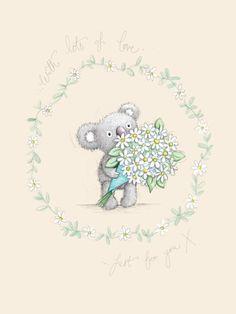 Gail Yerrill - Gail Yerrill Katy Koala With Daisies Cute004