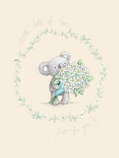 Gail Yerrill - Gail Yerrill Katy Koala With Daisies Cute004
