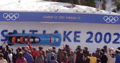 Salt Lake, 2002 – German bobsled team of Andre Lange. Fun fact: The Women's Bobsled Event had its debut at the 2002 Games after several years of World Cup competition.