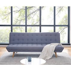 Buy Elin 3 Seater Scandinavian Style Sofa Bed - Light Grey Online Australia