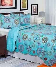 Love this Serena Quilt Set by Lavish Home on #zulily! #zulilyfinds