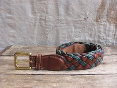 vintage c. 1980s braided leather and waxed by MouseTrapVintage, $26.00