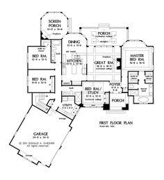 Captivating Find This Pin And More On Dream Home Options! By Claramuskie. One Story  House Plans ...