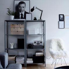 HYLLIS stellingkast | Deze pin repinnen wij om jullie te inspireren. IKEArepint IKEA IKEAnederland IKEAnl kast opbergen opberger woonkamer industrieel inspiratie wooninspiratie