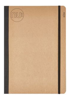 The Nu Elite Kraft range offers a stylish alternative to other notebooks with a smart manila shade card cover.  This distinctive book features sleek black cloth binding, and includes high quality smooth cream paper.  Page Count: 160 GSM: 100 Cover: Kraft Card