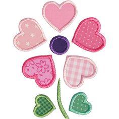 Heart+Flower+Applique+by+HappyApplique.com