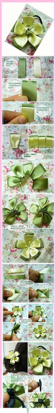 Make your own hair accessories. Easy Peasy Strawberry ^o^V