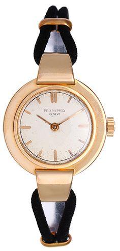 Patek Philippe Vintage 18K Rose Gold Ladies Watch Silvered Dial