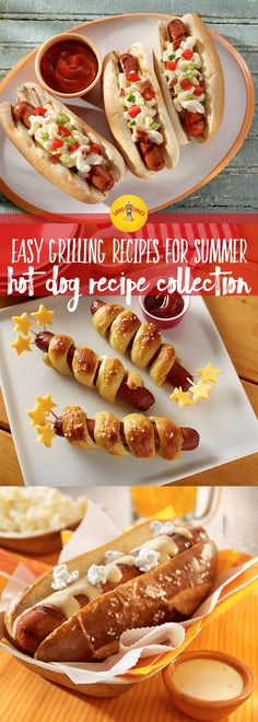 Hot dogs are essential for summer cookouts. Between mac 'n cheese and pretzel buns the possibiltiies are endless when it comes to dressing up your grilling classic.