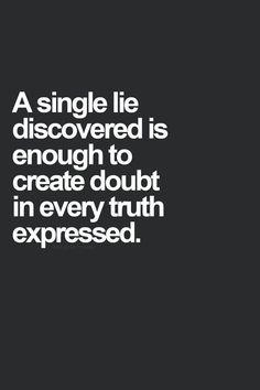 A single lie...