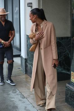 Black Celebrities, Celebs, Jasmine Tookes, Outfit Look, Street Styles, Mantel, Celebrity Style, Duster Coat, Style Inspiration