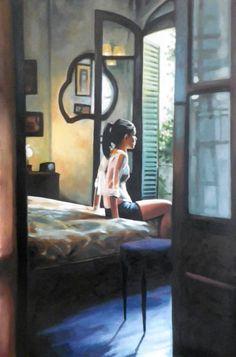 "Saatchi Art Artist Thomas Saliot; Painting, ""French girl room"" #art"