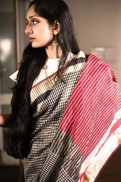 Cotton Silk Saree by Ecoloom