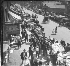 Maxwell Street, 1917, Chicago.