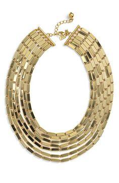 kate spade 'gold rush' collar necklace