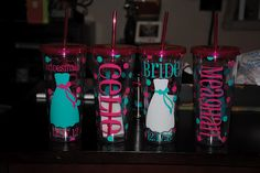 Pretty much the cutest bridesmaids gifts I've ever seen!